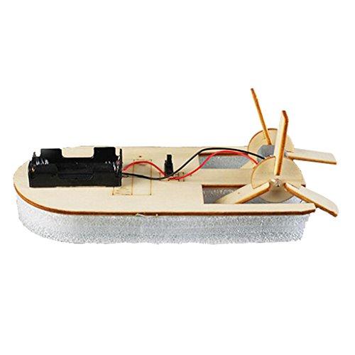 MagiDeal Elektrisches Holzboot Modell, Handgefertigt DIY Experiment Werkzeug Kinder Vorschule Pädagogisches Spielzeug Kinder-science-experiment Kits