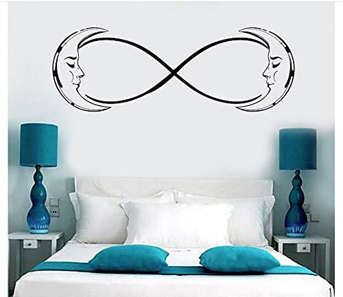 yangyueyue Wandtattoos Wasserdicht Vinyl Wandtattoo Moon Crescent Infinity Schlafzimmer TraumdekorWandaufkleberFür Kinder Vinilos Paredes42 * 118 cm (Den Lieben, Sie Infinity-wandtattoos Um)
