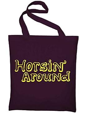 Horsin Around Logo Jutebeutel, Beutel, Stoffbeutel, Baumwolltasche