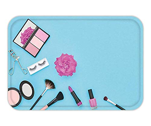 eda678c3857d CHKWYN Doormat Fashion Cosmetic Makeup Woman Beauty Accessories Set  Essentials Makeup Background Fashion 15.7X23.6 Inches/40X60cm