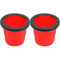 TOYANDONA 2Pcs Niños Zancos Juguetes PE Cubo de Plástico Zancos Equilibrio Desarrollo de Juguetes Antideslizante Cofre Zanco Sensorial Stytem Entrenador para Niños Rojo