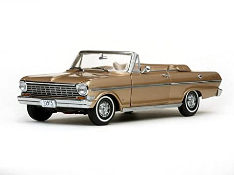 1963 Chevrolet Nova Open Convertible Saddle Tan 1/18 by Sunstar 3975