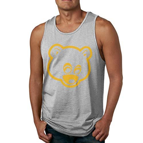 Abigails Home Kanye West Männer Tank Top ärmellose Shirts Tee Basketball Sport T Shirt Tees Outdoor Fitness(L,grau) -