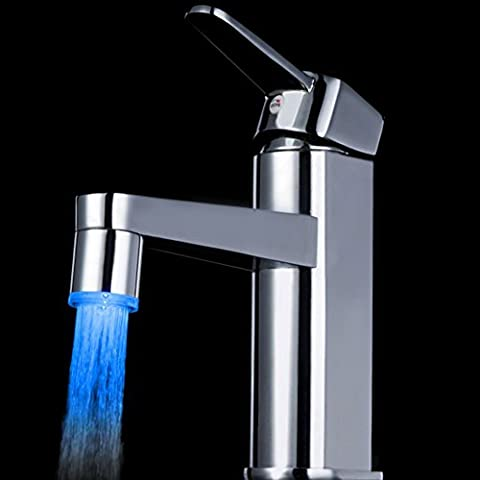 Deluxe Faucet 7 Colors Changing Mini Kitchen Bathroom Accessories Cocina Pure Glow Led Light Water Stream Torneiras Cozinha Faucet Tap,Chrome