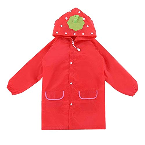T TOOYFUL Jacket Poncho Baby Cartoon Kids School Cover Raincoat Hooded Rainwear Children