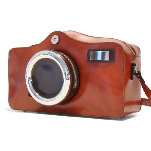 Pratesi Leather, Leather Bag for Woman Photocamera Radica Shoulder Bag in cow leather