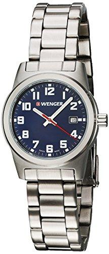 WENGER Damen Analog Quarz Uhr mit Edelstahl Armband 01.0411.125