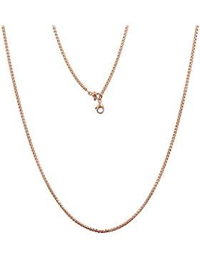 U Deserved Jewelry Damen Schmuck Edelstahl Rosegold Coin Kette 65cm