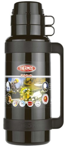 Thermos Mondial Flask, 1.8 L - Black/Green/Blue