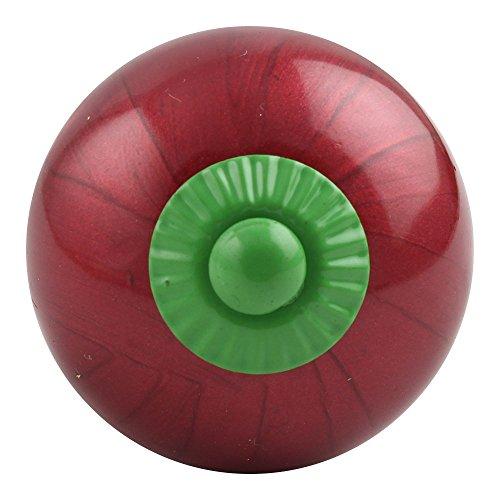 indianshelf handgefertigt 2Stück Neon Cherry grün rund Kleiderschrank Türknauf, Keramik/zieht (cscrk-34(scrk-67)) Knauf Standard Cherry 1