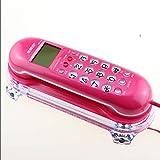 ZfgG Startseite Hotel Wand-Telefon Festnetz-Maschine Creative Cute Anrufer ID Hotel Kleine Erweiterung Persönlichkeit Wired Telefon Festnetznummer (Farbe : Pink)