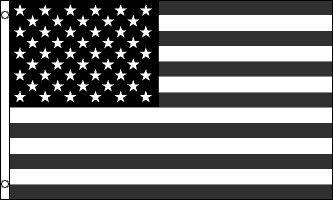 USA-Flagge, 1,5 x 0,9 m, Schwarz/Weiß, gedämpfte Farbe -