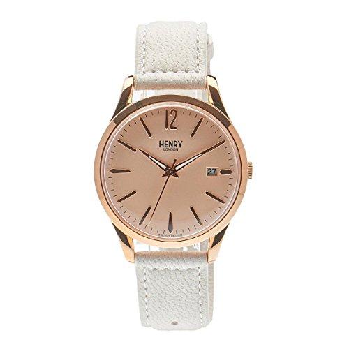 Henry de Londres Unisex Reloj de Pulsera Pimlico analógico de Cuarzo Piel hl39de S de 0112 (Reacondicionado Certificado)