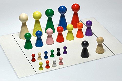 G&S Figurenset für Systembrett Familienbrett - Set mit 24 Figuren und Aufstellungsplan