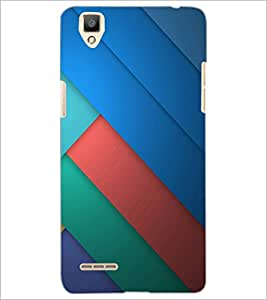 PrintDhaba Pattern D-1095 Back Case Cover for OPPO F1 (Multi-Coloured)