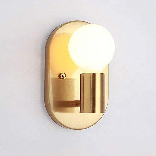 E27Applique Lampe Murale en métal rétro élégant Chambre Deco Éclairage intérieur pour chambre à coucher, salle à manger salon cuisine Aisle couloir, Corridor escaliers Lit latéral L12* H20cm Doré