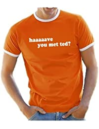 """'Coole-Fun-T-Shirts T-Shirt """"haaaave you met ted?"""" (Conosci Ted?) T-Shirt with Contrasting Edges """"How I Met Your Mother (as I Met Your Mother), V3"""