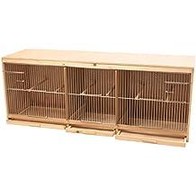 DUVO + Kit Jaula para pájaro Fabricada en Madera con 3 Partes