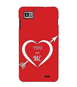 Fuson Designer Back Case Cover for Lenovo K860 :: Lenovo IdeaPhone K860 (Love Love Heart Arrow Love Struck Cupid)