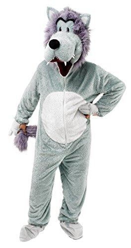 Herren Erwachsene Großer böser Wolf büchertag Halloween Maskottchen Kostüm Kleid Outfit