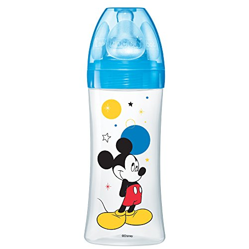 dodie Biberon Initiation Mickey Bleu 330 ml 6+ Mois