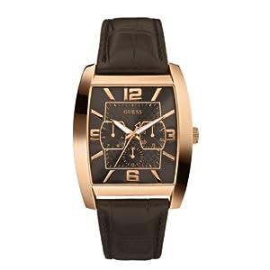 Reloj Guess W10600G1 de cuarzo para hombre con correa de piel, color marrón de Guess