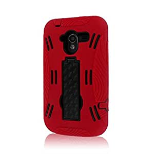 MPERO IMPACT XL Series Kickstand Case for ZTE Avid 4G N9120 - Red