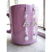 Orecchini con triquetra opalite handmade