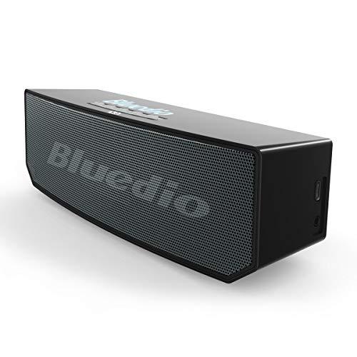 Bluedio BS-6 (Camel) Portable Bluetooth Haut-Parleur sans Fil stéréo Soundbar avec Micro pour téléphones et Musique (Noir)