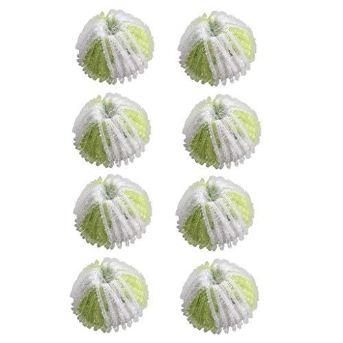 wyxhkj Neue 8 Stück Waschbälle Fusselfänger für Waschmaschinen Haar Lint Flusen Greifen Wäsche Für Waschmaschine Ball Waschen (Grün)