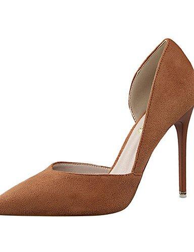 WSS 2016 Chaussures Femme-Décontracté-Noir / Marron / Rose / Gris-Talon Aiguille-Talons-Talons-Laine synthétique pink-us5.5 / eu36 / uk3.5 / cn35