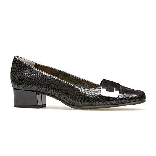 Van Dal Women's Duchess Closed-Toe Heels, Black (Black Reptile Print/Suede), 6 UK...