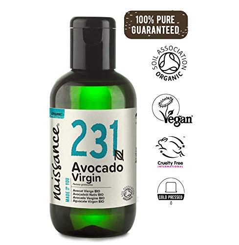 Naissance Aceite Vegetal de Aguacate BIO n. º 231 - 100ml - 100% puro, virgen, prensado en frío, certificado ecológico, vegano y no OGM