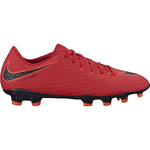 NIKE Herren Hypervenom Phelon III FG Fußballschuhe, Rot (Universität Rot/Schwarz-Helles Karmesinrot 616), 44 EU (Herren Laufen Schuhe Nike Rot)