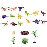 Mini Dinosaur Model Toys Dinosauro Giocattoli Fun Toys Animal Figures Rifornimenti del partito per bambini Dinosauri in plastica Assorted Color One Set of 16Pcs