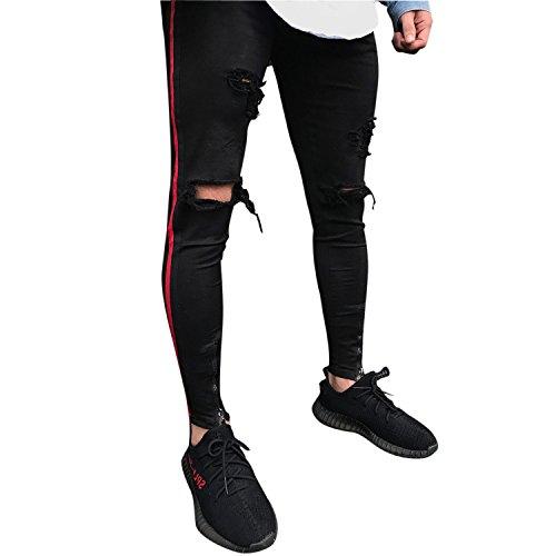 ... Slim Fit Strech Skinny Destroyed Löchern Jeans Denim. Details · Zum  Angebot · Bold Manner Herren Jeans Skinnyhosen Used-Look Hip Hop mit  Löchern Stretch ... cdd07bce5c