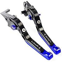 Palanca de embrague de freno extensible y plegable ajustable CNC aluminio Azul para Yamaha MT07 FZ07 2014 2015 2016 2017