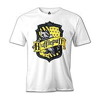 Lord Tshirt-Harry Potter - Hufflepuff Beyaz Erkek Tshirt