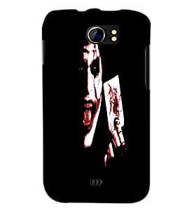 PrintDhaba Joker D-4849 Back Case Cover for MICROMAX A110 CANVAS 2 (Multi-Coloured)