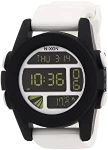 Nixon Herren-Armbanduhr XL The Unit White / Black Digital Quarz Silikon A197127-00