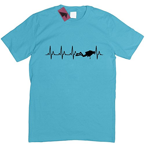 Prism Clothing Co. Herren T-Shirt Blau Blau Blau - Surf Blue