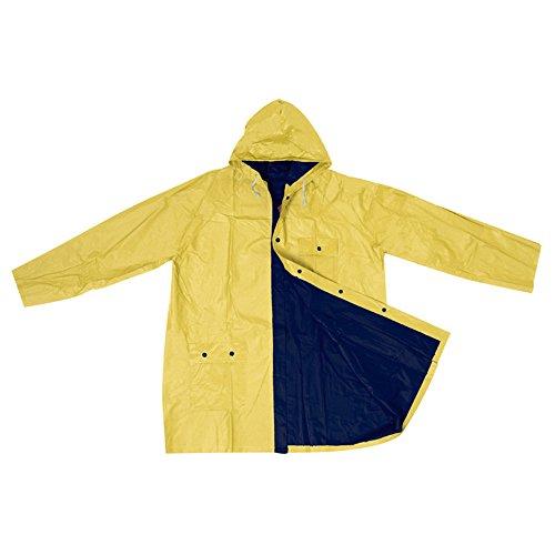 Bicolour Reversible Raincoat Waterproof Rain Coat PVC Jacket Rainproof Raincoats