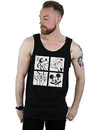 Disney Hombre Mickey, Donald, Goofy and Pluto Boxed Camiseta Sin Mangas