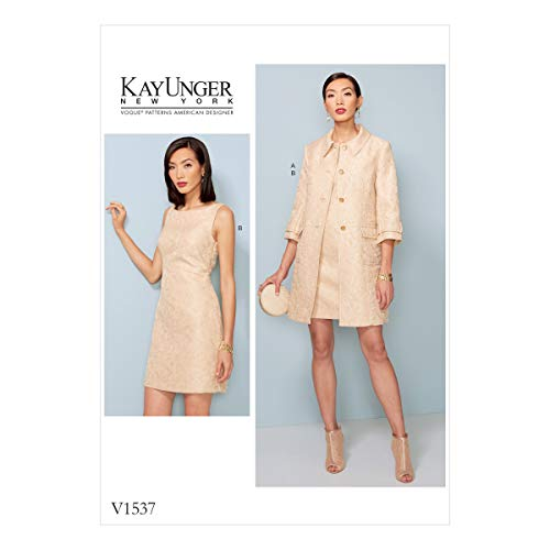 Vogue Patterns Patrons de Veste et Robe, Multicolore, Tailles 14-22