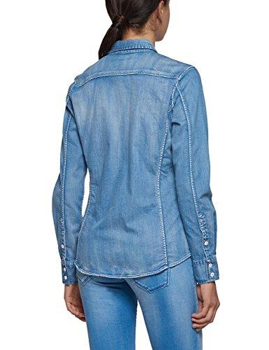 Replay W2923 .000.17c 99a, Chemise Femme Bleu (Blue Denim)