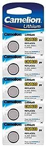 Camelion 13005620 Lithium Knopfzelle CR1620, 3V, 5er Blister