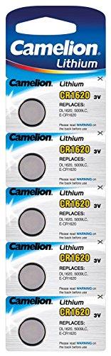 Camelion 13005620 - Pilas de botón CR1620 / 5 unidades
