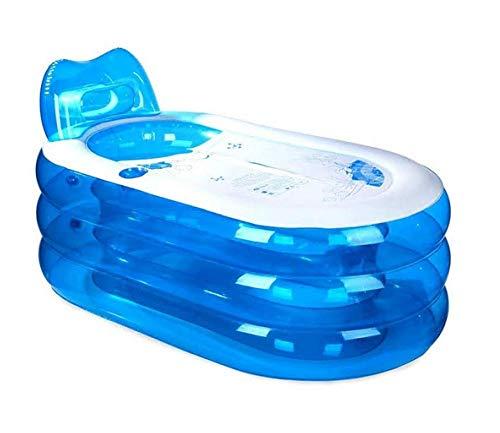 KFRSQ Whirlpool Swimmingpool Aufblasbar Pool Outdoor Verdickte aufblasbare Badewanne, Erwachsene Kinder PVC Badewanne, Kunststoff-Klapp Badewanne, Eimer (L x B x H: 145 * 80 * 70cm)