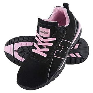 Arbeitsschuhe Sicherheitsschuhe ARGENTINA Schuhe Gr.36-41 Schutzschuhe Damenschuhe Stahlkappe (38), Schwarz-Pink