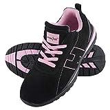Arbeitsschuhe Sicherheitsschuhe ARGENTINA Schuhe Gr.36-41 Schutzschuhe Damenschuhe Stahlkappe (39), Schwarz-Pink